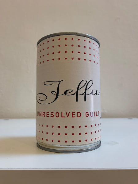 "Jeffu Warmouth ""Unresolved Guilt"" Can"