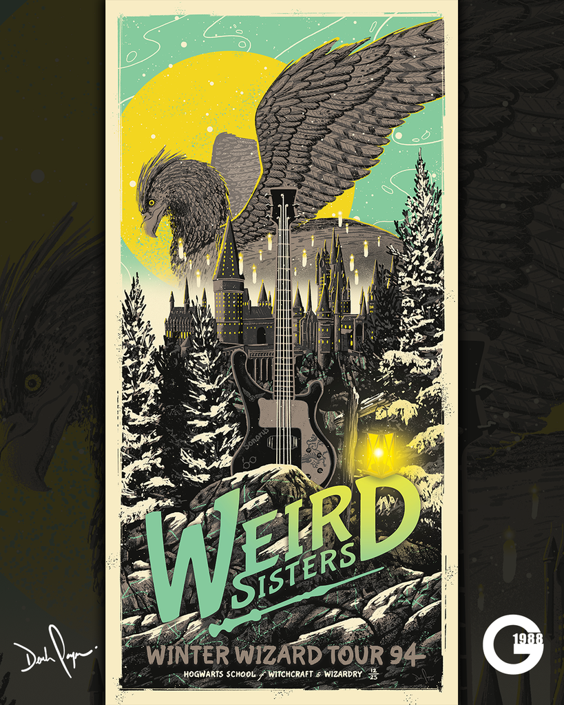 "Derek Payne ""Weird Sisters: Winter Wizard Tour '94"" Print"