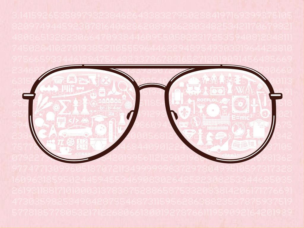 "DKNG ""White And Nerdy (Pink)"" Print"