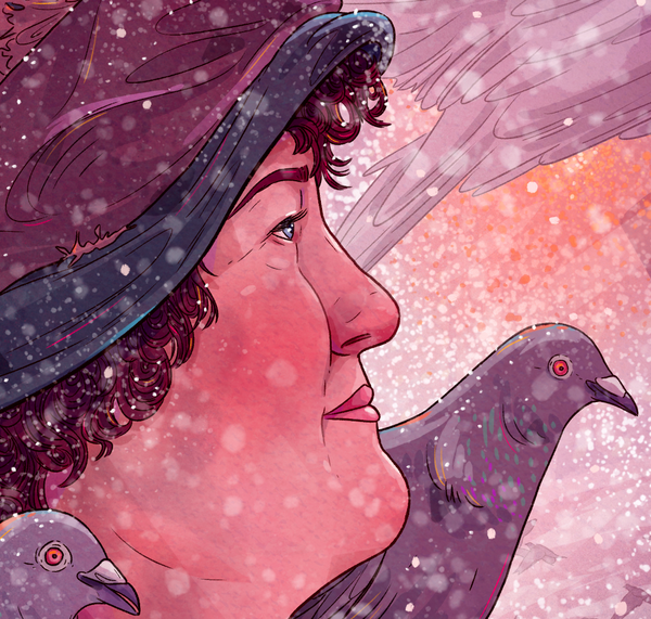 "Taylor Rose ""Pigeon Lady"" Print"
