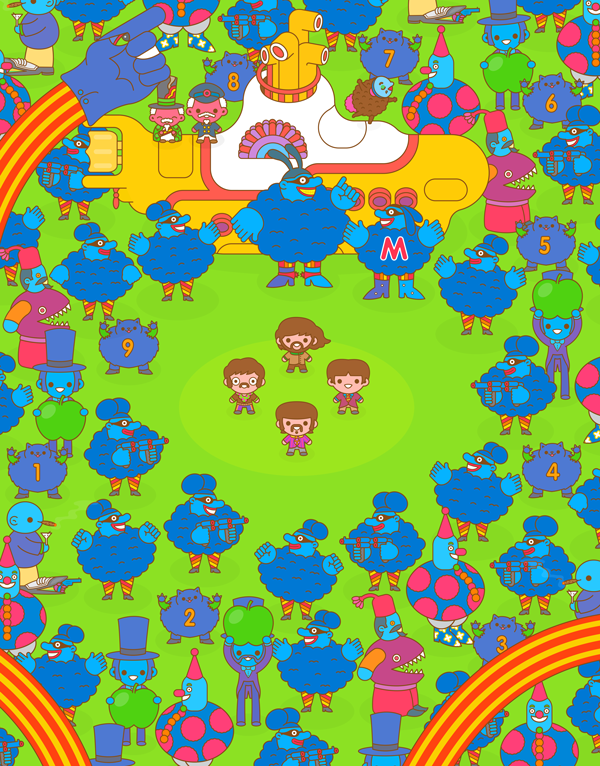 "100% Soft ""Yellow Submarine"" Print"