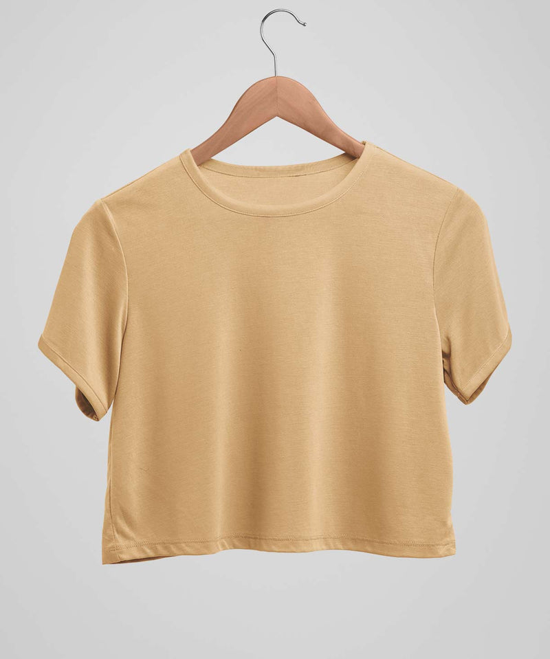 Light Brown Solid - Crop top - TheBTclub