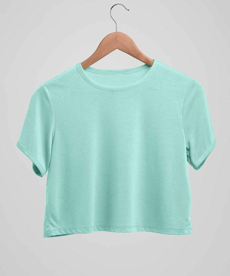 Mint Green - Solid - Crop top - TheBTclub