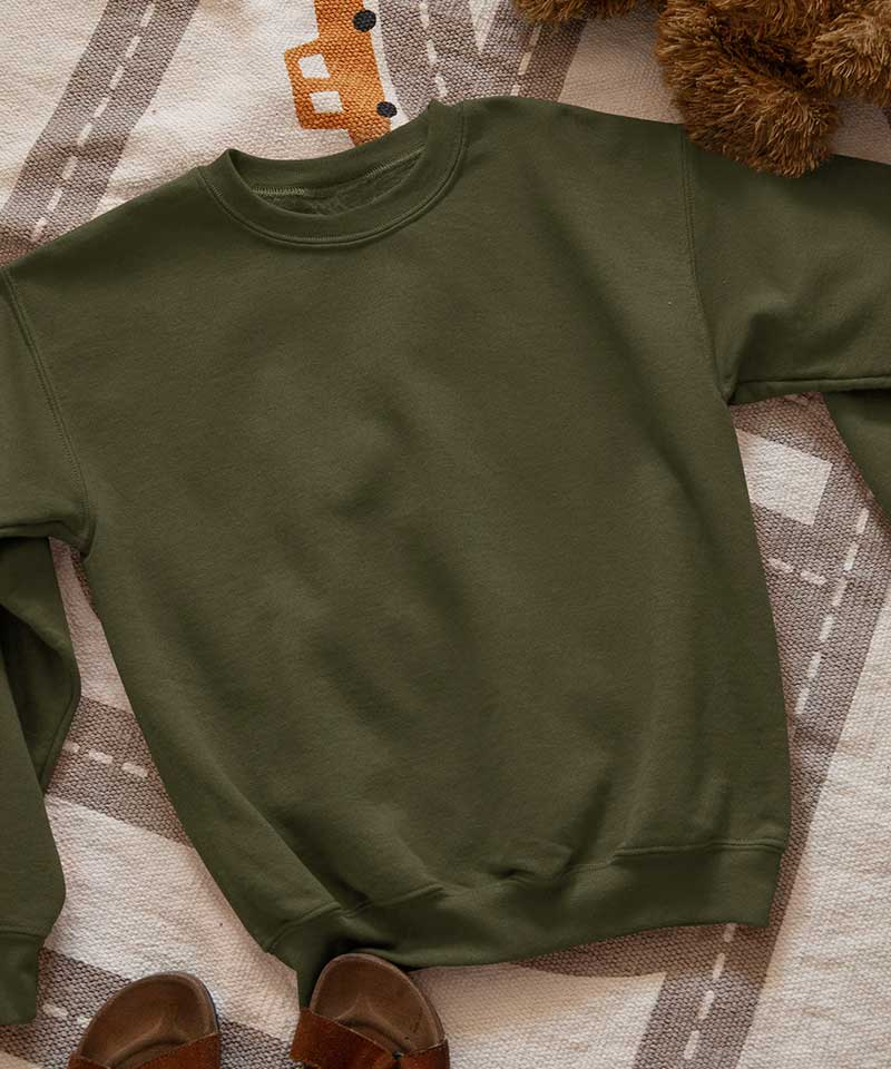 Olive green - Basic Sweatshirt - TheBTclub