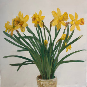 Potted Daffodils by Julia Mcneely
