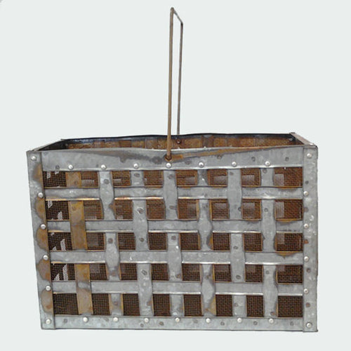 Crossweave Galvanized Planter Lantern