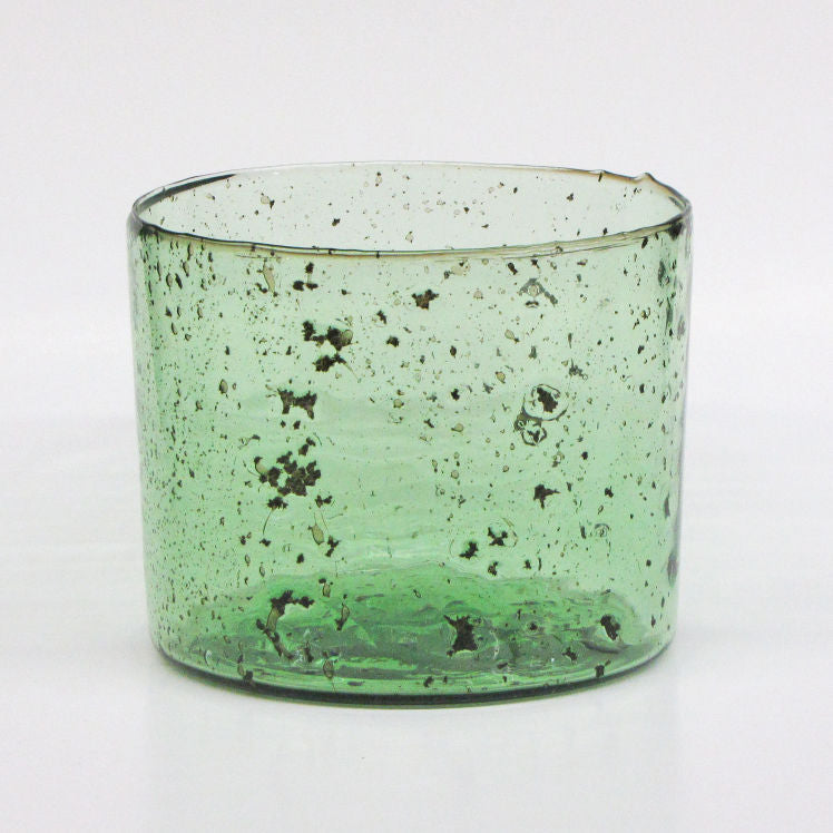 Recycled Green Glass Bucket Vase
