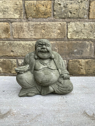Mini Sitting Happy Buddha Concrete Statue