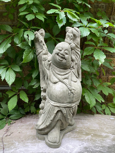 Large Standing Laughing Buddha Concrete Statue