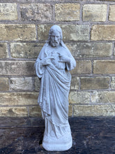 Load image into Gallery viewer, Jesus with Sacred Heart Concrete Statue