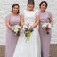 Scoop Neckline Short Sleeve Bridesmaid Dresses, PD01771