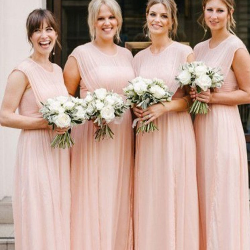 Illusion A-Line Chiffon Bridesmaid Dresses, PD01772