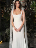Elegant Regular Straps Mermaid Wedding Dresses, PD01758