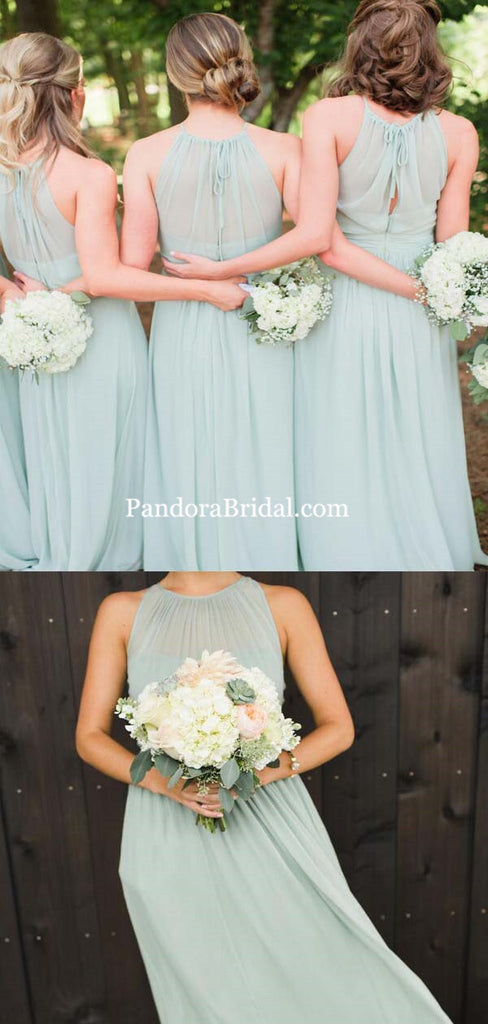 Beautiful Mint Green Long A-Line Bridesmaid Dresses, Bridesmaid Dresses, PD0313