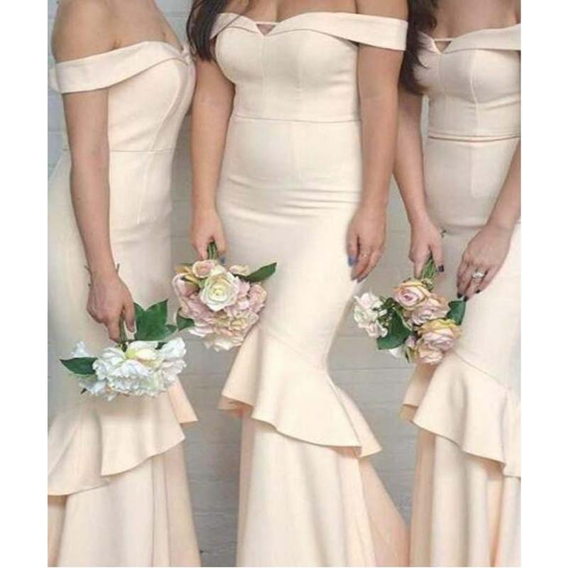 Off Shoulder Long Mermaid Bridesmaid Dresses, Bridesmaid Dresses, PD0327