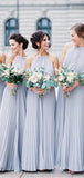 Alluring Pleated Halter Chiffon Bridesmaid Dresses, VB02942