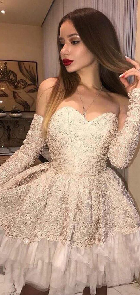 Elegant Sweetheart Embroidery Homecoming Dresses, 2019 Homecoming Dresses, VB02453