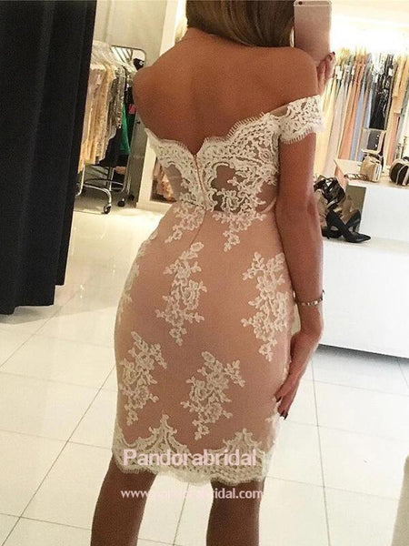 Elegant Off Shoulder Mermaid Homecoming Dresses With Lace Appliques, Homecoming Dresses, VB02553