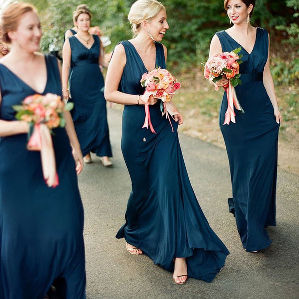 Elegant V-Neck Mermaid Bridesmaid Dresses, PD01763