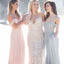Off Shoulder Chiffon Bridesmaid Dresses, PD01795