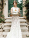 Sleeveless Open Back Mermaid With Appliques Wedding Dresses, PD01780