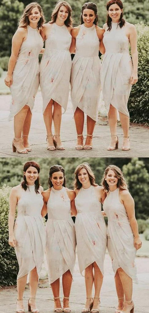 Charming Sleeveless Tea-Length Bridesmaid Dresses, VB02906