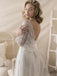 Casual Half Sleeve Lace A-Line Wedding Dresses, Beach Wedding Dresses, VB03264