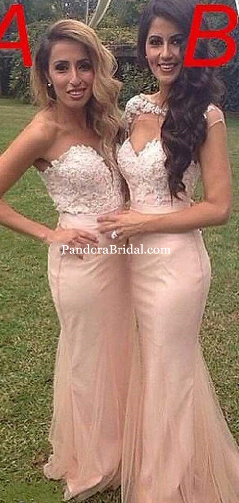 Charming Different Styles Lace Top Long Mermaid Bridesmaid Dresses, Bridesmaid Dresses, PD0511