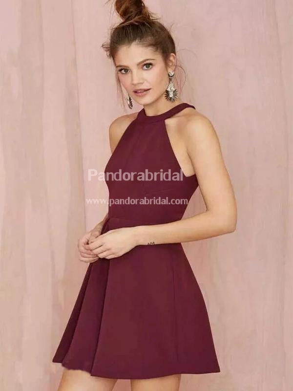 Classy Halter Short A-Line Homecoming Dresses, Simple Homecoming Dresses, VB02528