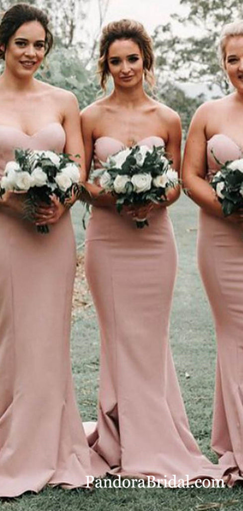 Simple Sweetheart Long Mermaid Bridesmaid Dresses, 2019 Bridesmaid Dresses, PD0674