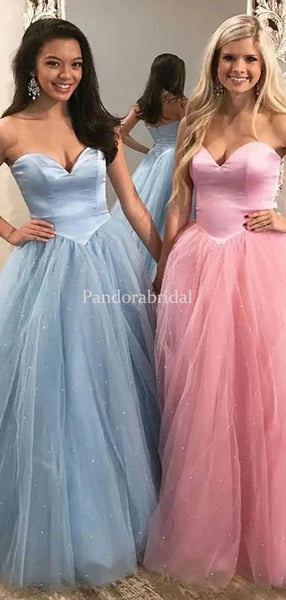 Alluring Sweetheart Shinny Tulle A-Line Prom Dresses, PD01029