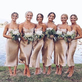 Spaghetti Straps Sheath Bridesmaid Dresses, Comfortable Bridesmaid Dresses, VB02329
