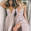 Sexy Spaghetti Straps Long A-Line Side Slit Bridesmaid Dresses, Bridesmaid Dresses, VB02467