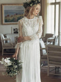 Elegant A-Line Lace Wedding Dresses, PD01753