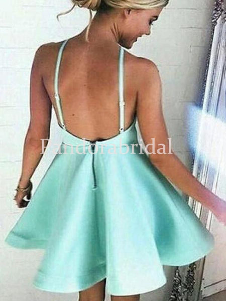 Unique Halter Short A-Line Homecoming Dresses, Simple Homecoming Dresses, VB02667