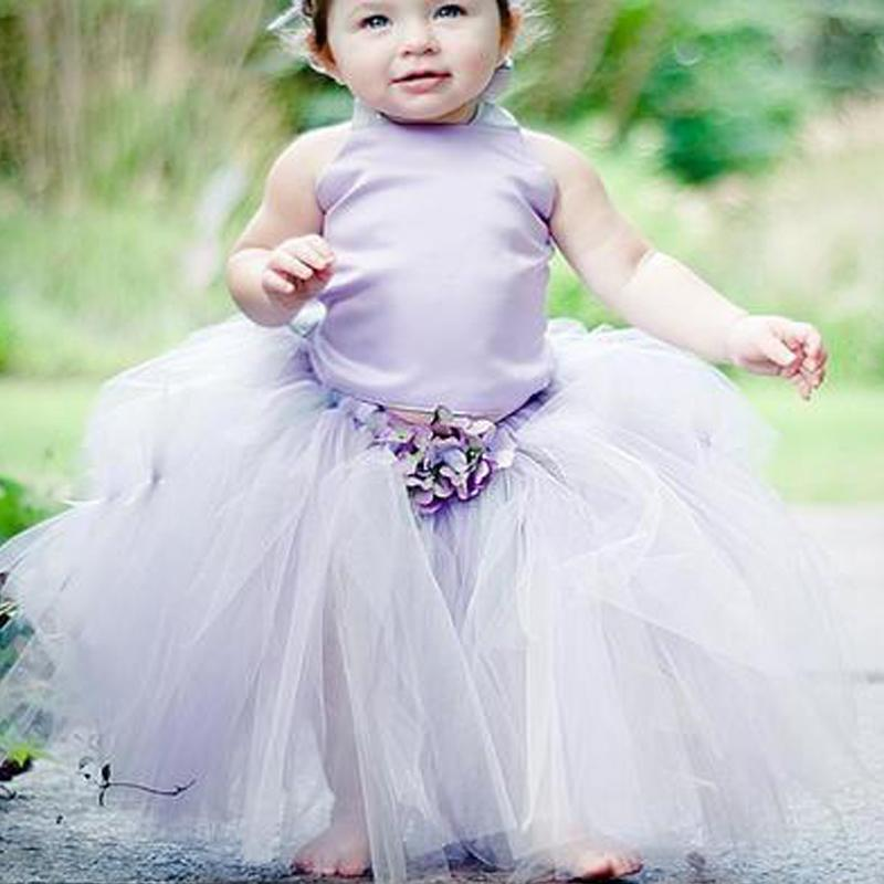 3c692929055d Purple High Neck Sleeveless A-Line Tulle Flower Girl Dresses, Simple Flower  Girl Dresses