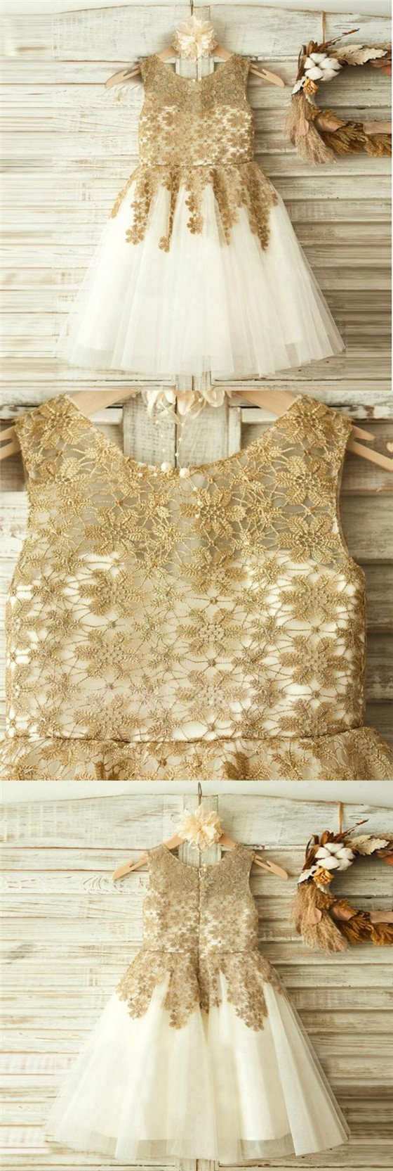 04a019c37 Gold Sparkly Flower Girl Dress – DACC