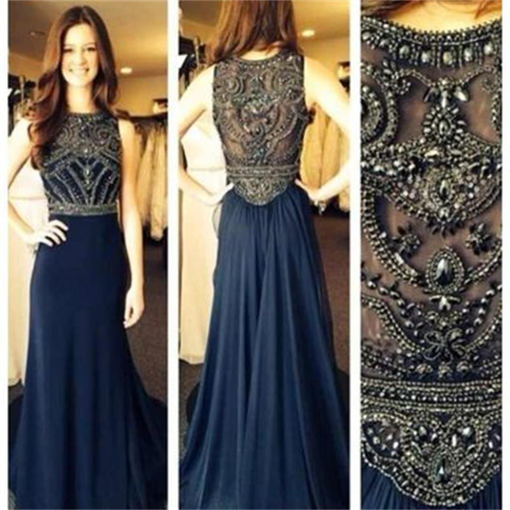 Navy Prom Dresses a25483634ee8