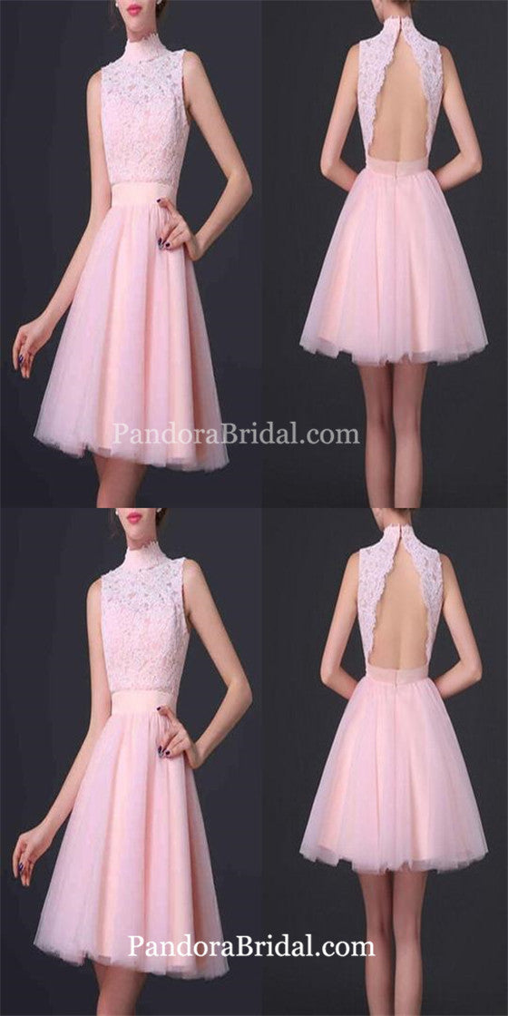 934fc9c27b Popular pink high neck open back elegant cute for teens homecoming prom  gowns dress