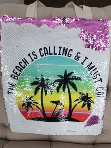 Beach Is Calling Mermaid Tote Bsg