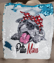 Pittie Mom Polka Dot  Sequin Tote
