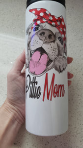 Pitbull Mom Tumbler 16oz