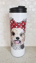 Yorkie Red Bow Tumbler