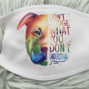 Pitbull Don't Judge Mask