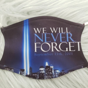 We Will Never Forget 9-11 Mask