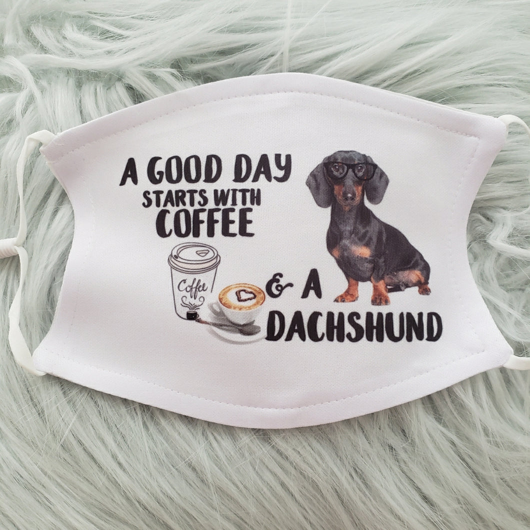 Coffee & Dachshunds Mask