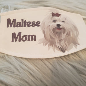 Maltese Mom Mask