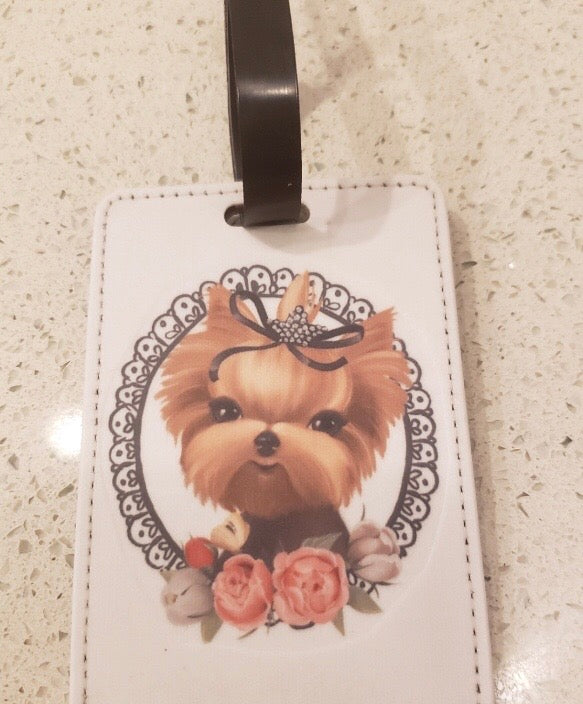 Yorkie Luggage Tag