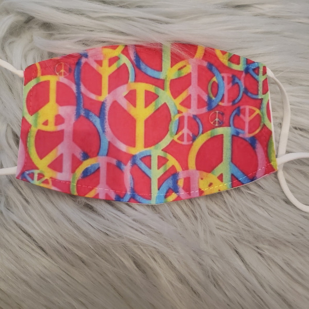 Rainbow Tie Dye Peace Mask