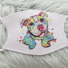 Cute Pitbull Mask (Multiple Colors Available)